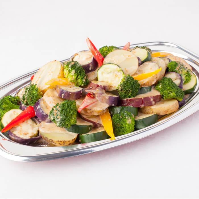 温野菜の胡麻ソース添え-detail-02