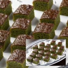 抹茶のミニカットケーキ